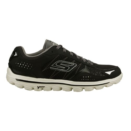 Mens Skechers GO Walk 2 - Flash Walking Shoe - Black/Grey 7.5