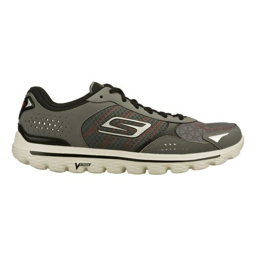 Mens Skechers GO Walk 2 - Flash Walking Shoe - Charcoal/Black 10