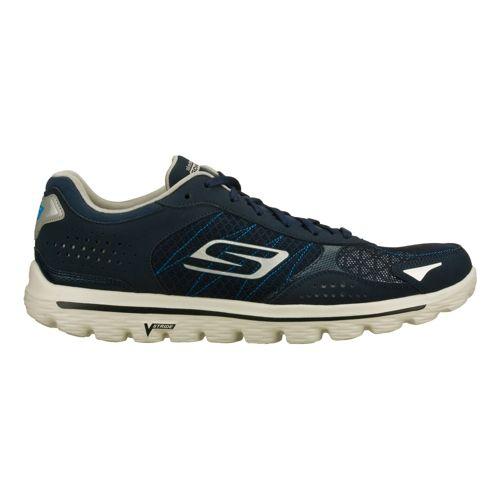 Mens Skechers GO Walk 2 - Flash Walking Shoe - Navy/Grey 10