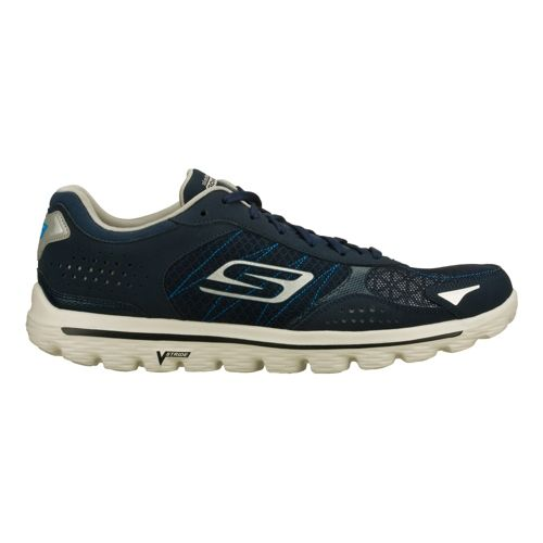 Mens Skechers GO Walk 2 - Flash Walking Shoe - Navy/Grey 12.5
