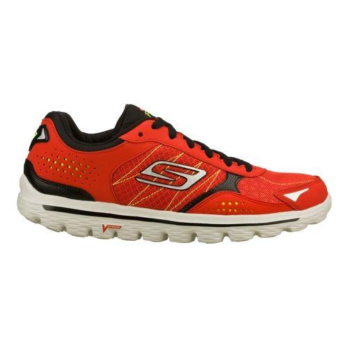 Mens Skechers GO Walk 2 - Flash Walking Shoe - Red/Black 6.5