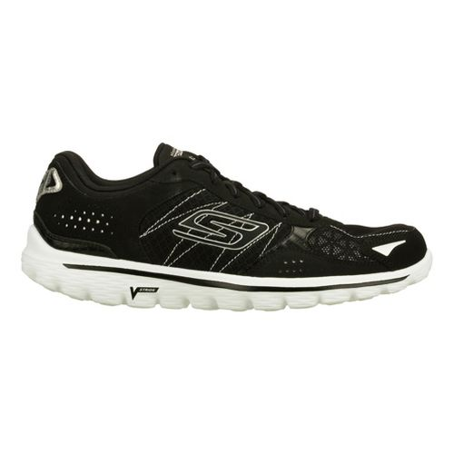 Womens Skechers GO Walk 2 - Flash Walking Shoe - Black/White 11