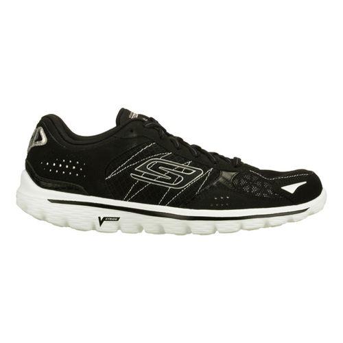 Womens Skechers GO Walk 2 - Flash Walking Shoe - Black/White 8.5