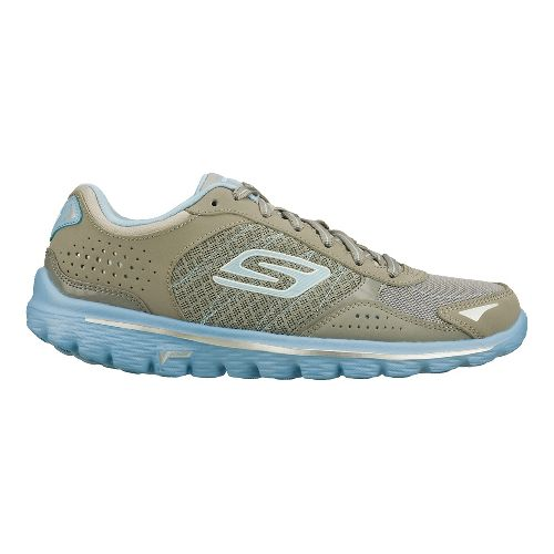 Womens Skechers GO Walk 2 - Flash Walking Shoe - Grey/Blue 6.5