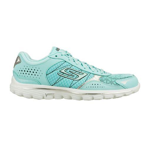 Womens Skechers GO Walk 2 - Flash Walking Shoe - Mint 5