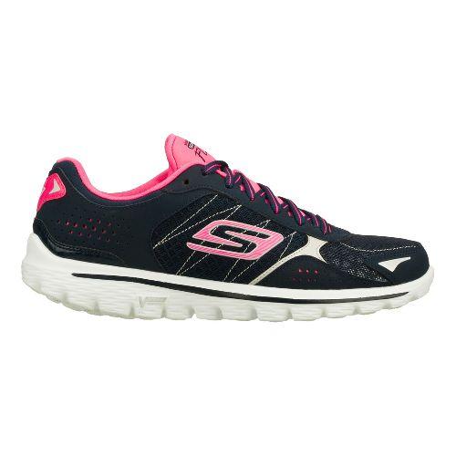 Womens Skechers GO Walk 2 - Flash Walking Shoe - Navy/Hot Pink 8