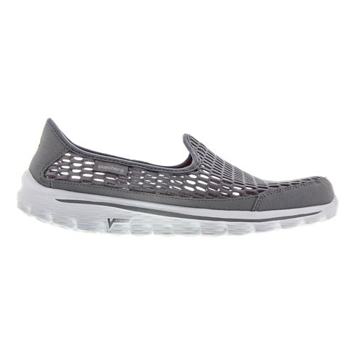 Womens Skechers GO Walk 2 - Super Breathe Walking Shoe - Grey 7