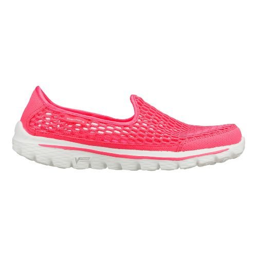 Womens Skechers GO Walk 2 - Super Breathe Walking Shoe - Hot Pink 11