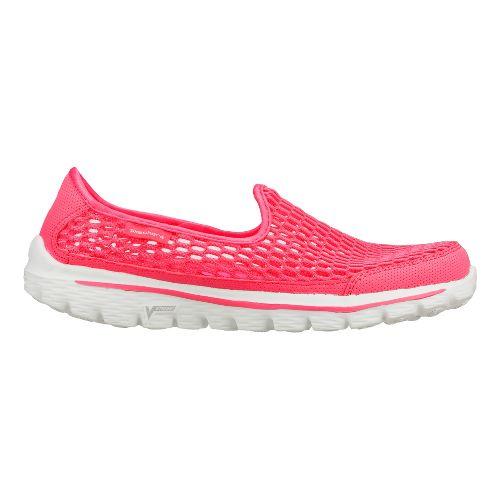 Womens Skechers GO Walk 2 - Super Breathe Walking Shoe - Hot Pink 5.5