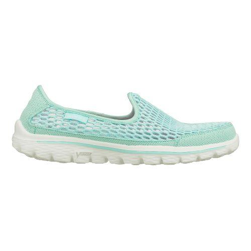 Womens Skechers GO Walk 2 - Super Breathe Walking Shoe - Mint 9.5