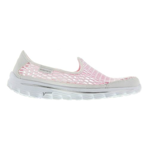 Womens Skechers GO Walk 2 - Super Breathe Walking Shoe - White 7.5