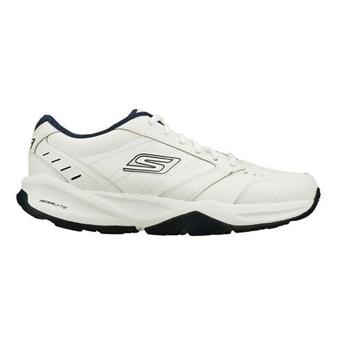 Mens Skechers GO Train - ACE Cross Training Shoe - White/Navy 9