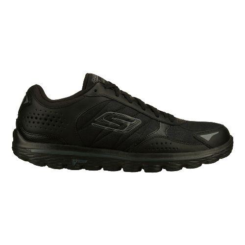 Mens Skechers GO Walk 2 - Flash - Leather Tex Walking Shoe - Black 10.5 ...