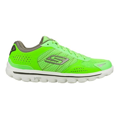 Mens Skechers GO Walk 2 - Nite Owl 2.0 Walking Shoe - Green 11.5