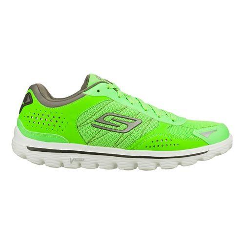 Mens Skechers GO Walk 2 - Nite Owl 2.0 Walking Shoe - Green 7.5