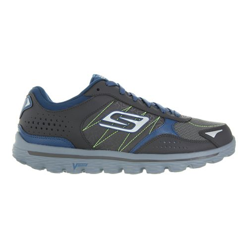 Mens Skechers Flash - Extreme Walking Shoe - Charcoal/Blue 10