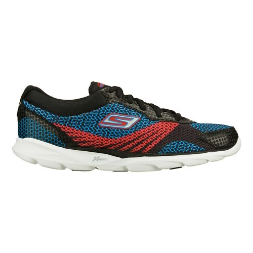 Mens Skechers GO Run - Sonic Running Shoe - Black/Blue 11.5