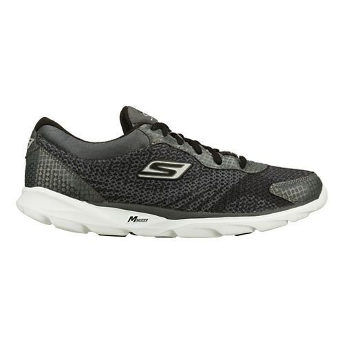 Mens Skechers GO Run - Sonic Running Shoe - Charcoal/Black 8