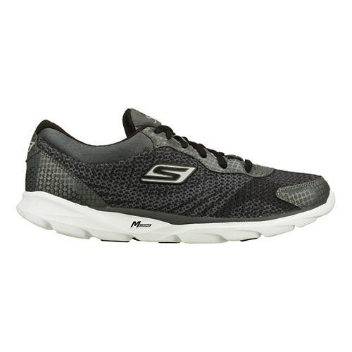 Mens Skechers GO Run - Sonic Running Shoe - Charcoal/Black 9