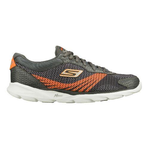 Mens Skechers GO Run - Sonic Running Shoe - Charcoal/Orange 6.5