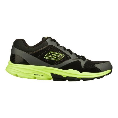 Mens Skechers GO Train - Supreme X Cross Training Shoe - Black/Lime 6.5