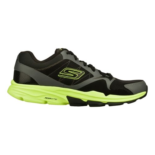 Mens Skechers GO Train - Supreme X Cross Training Shoe - Black/Lime 8.5