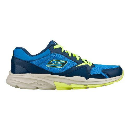 Mens Skechers GO Train - Supreme X Cross Training Shoe - Blue/Lime 14