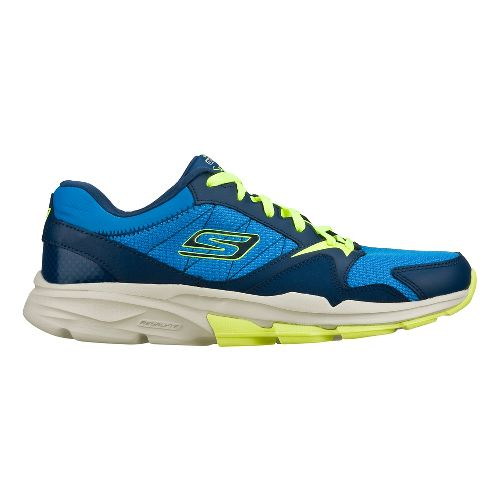 Mens Skechers GO Train - Supreme X Cross Training Shoe - Blue/Lime 7