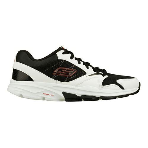Mens Skechers GO Train - Supreme X Cross Training Shoe - White/Black 7.5