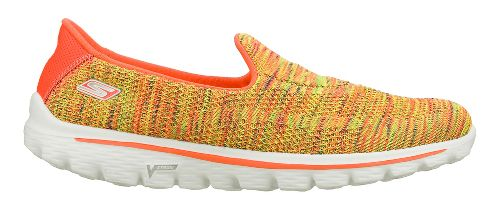 Womens Skechers GO Walk 2 - Elite Walking Shoe - Yellow/Multi Color 9