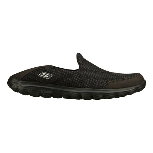 Womens Skechers GO Walk 2 - Convertible Walking Shoe - Black 8.5