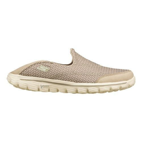 Womens Skechers GO Walk 2 - Convertible Walking Shoe - Stone 5.5