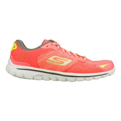 Womens Skechers GO Walk 2 Flash - Nite Owl 2.0 Walking Shoe - Hot Pink/Lime ...
