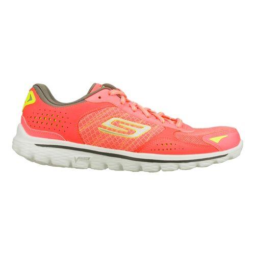 Womens Skechers GO Walk 2 Flash - Nite Owl 2.0 Walking Shoe - Hot Pink/Lime ...