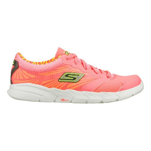 Womens Skechers GO Fit - Nite Owl 2.0 Cross Training Shoe - Hot Pink/Lime 7.5 ...