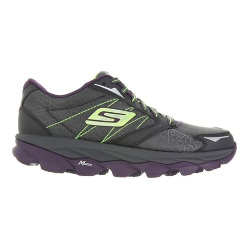 Womens Skechers GO Run Ultra - Extreme Running Shoe - Charcoal/Purple 8.5