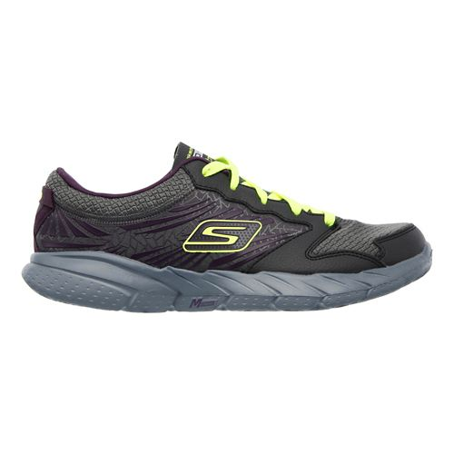 Womens Skechers GO Fit - Extreme Cross Training Shoe - Charcoal/Purple 5.5