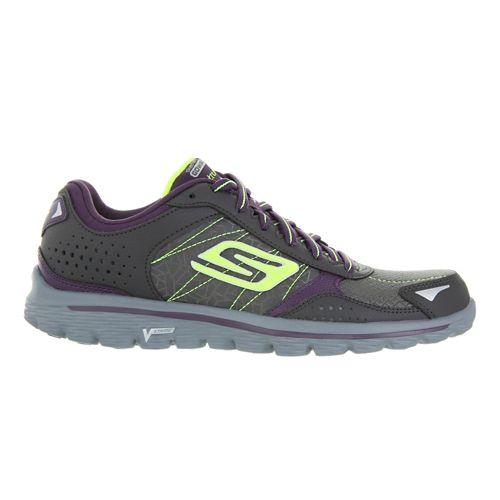 Womens Skechers GO Walk 2 Flash - Extreme Walking Shoe - Charcoal/Purple 11