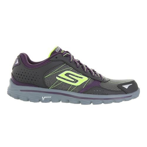 Womens Skechers GO Walk 2 Flash - Extreme Walking Shoe - Charcoal/Purple 9.5
