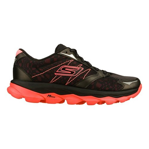 Mens Skechers GO Run Ultra - Ease Running Shoe - Black/Hot Pink 9.5