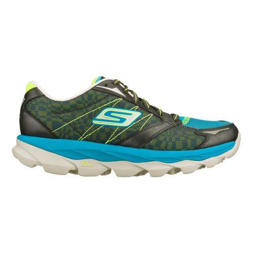 Mens Skechers GO Run Ultra - Ease Running Shoe - Charcoal/Turquoise 5.5