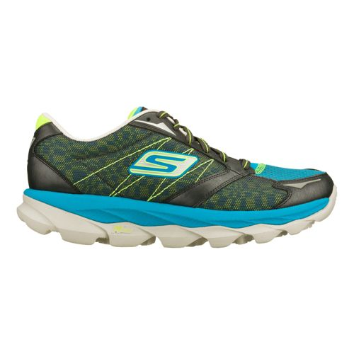 Mens Skechers GO Run Ultra - Ease Running Shoe - Charcoal/Turquoise 6.5