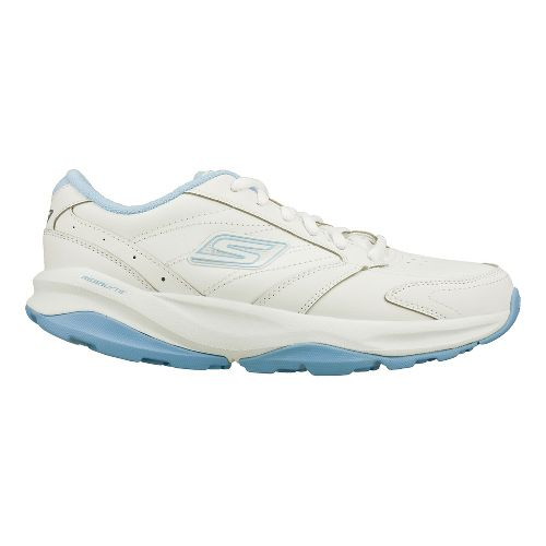 Womens Skechers GO Fit - ACE Cross Training Shoe - White/Light Blue 11