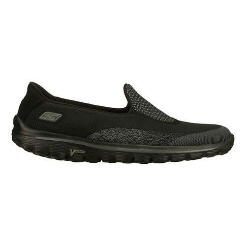 Womens Skechers GO Walk 2 - Blink Walking Shoe - Black/Grey 9