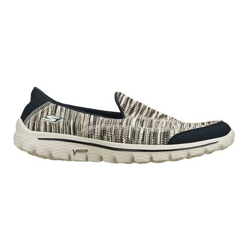 Womens Skechers GO Walk 2 - Frenzy Walking Shoe - Navy/Light Grey 7.5