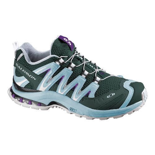 Womens Salomon XA Pro 3D Ultra 2 Trail Running Shoe - Grey/Light Blue 9.5
