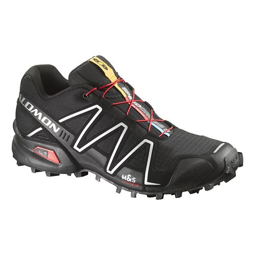 Mens Salomon Speedcross 3 Trail Running Shoe - Black 11.5