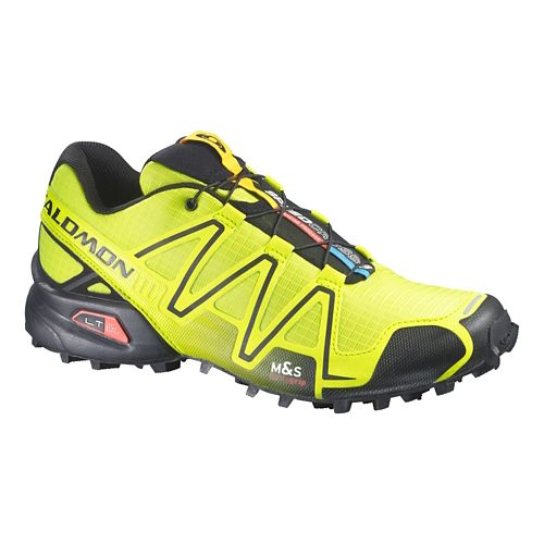 Mens Salomon Speedcross 3 Trail Running Shoe - Green/Black 9.5