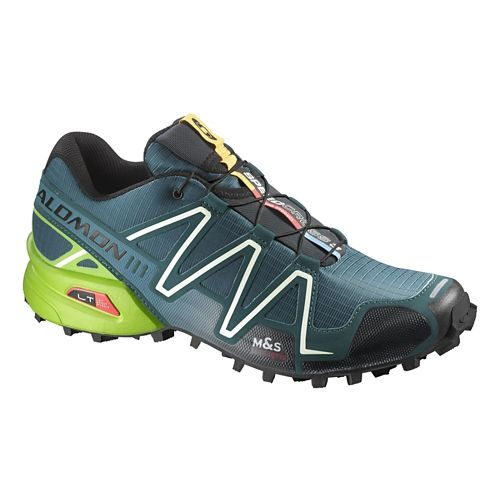 Mens Salomon Speedcross 3 Trail Running Shoe - Cobalt/Green 7