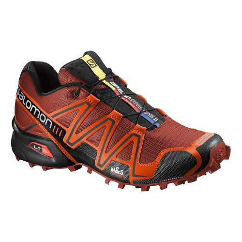 Mens Salomon Speedcross 3 Trail Running Shoe - Red/Orange 11